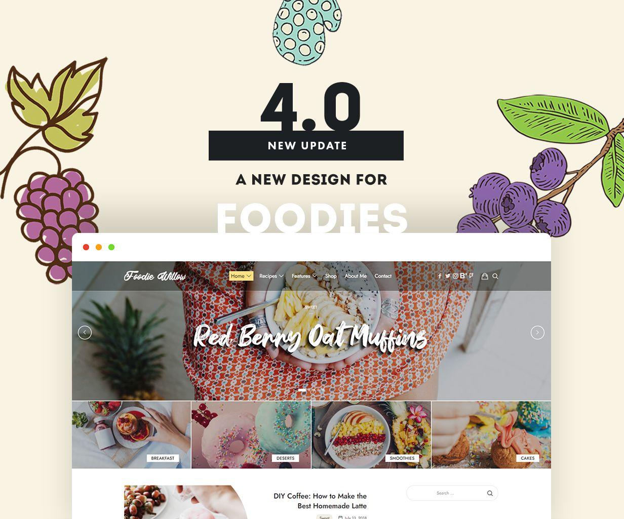 item by pixelwars - lahanna wordpress food blog theme for food bloggers