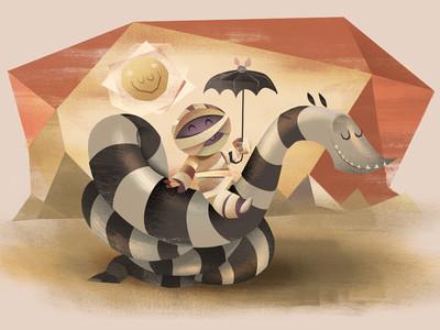 Mummy with snake
