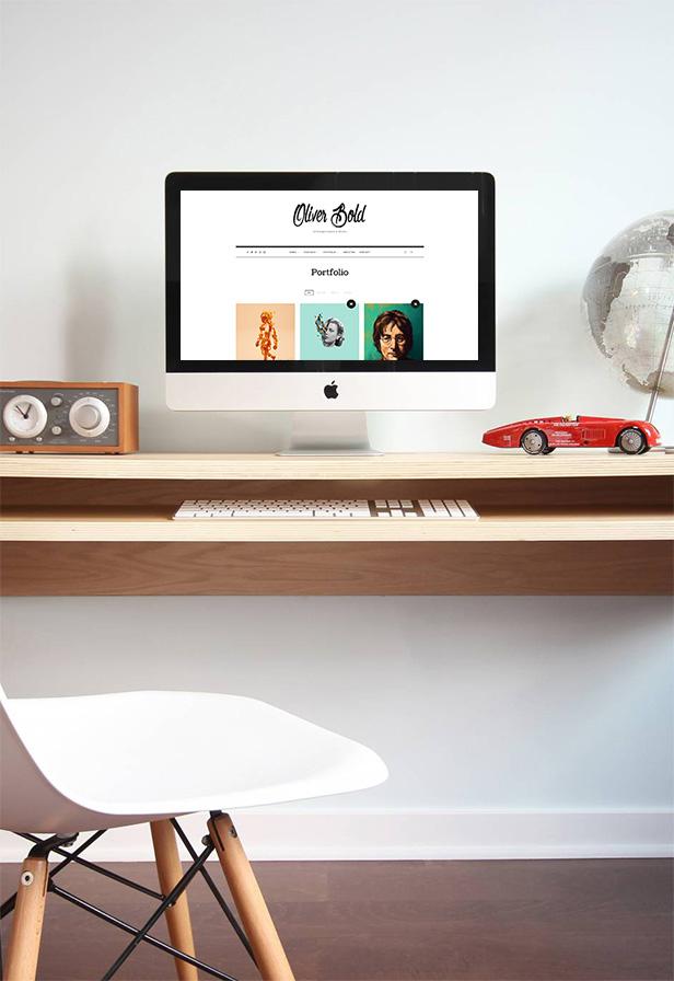 Portfolio WordPress Theme for Personal Portfolio - Oliver