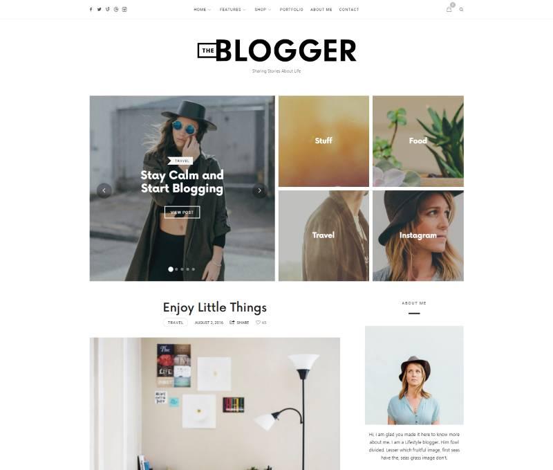 Стильный шаблон TheBlogger